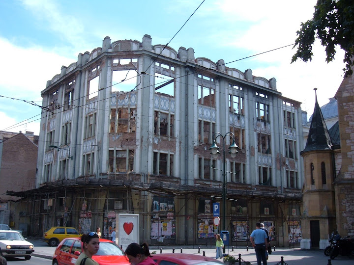A Building Still Bombed Out from the War