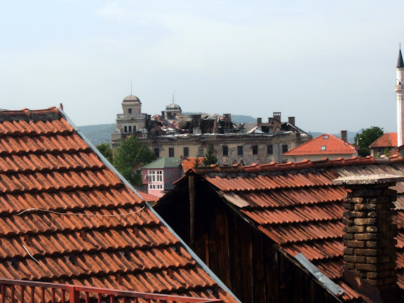 A good view of the bombed out manor in the city center