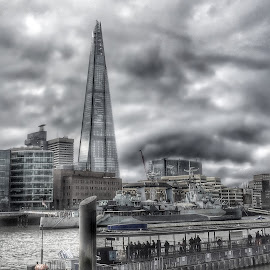 The Shard, London. by Roderick Leitch - Buildings & Architecture Office Buildings & Hotels ( london the shard hms belfast )