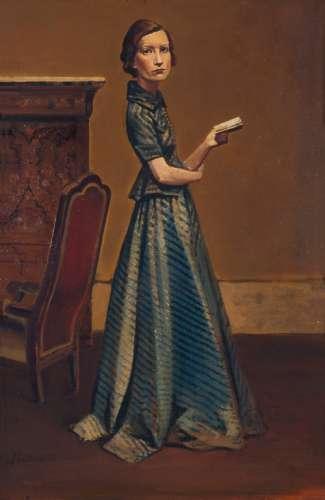 Balthus - Portrait de Femme en Robe Bleue, 1935