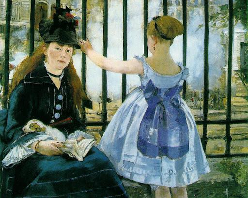 Edouard Manet [ Le chemin de Fer ] 1872-73