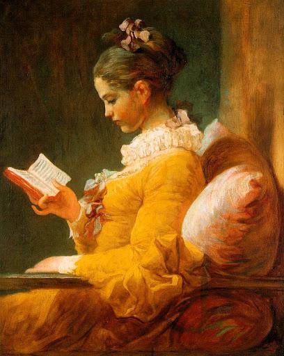 Jean-Honoré Fragonard [ Jeune fille lisant ] 1770