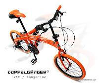 Sepeda Lipat DOPPELGANGER 212 Tangerine