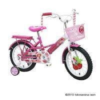 Sepeda Anak WIMCYCLE STRAWBERRY SHORTCAKE 18 Inci