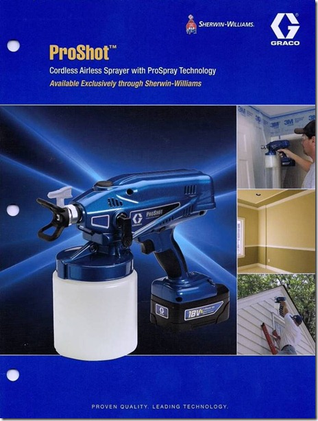 graco proshot airless sprayer