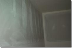 bare drywall