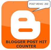 blogger post hit counter