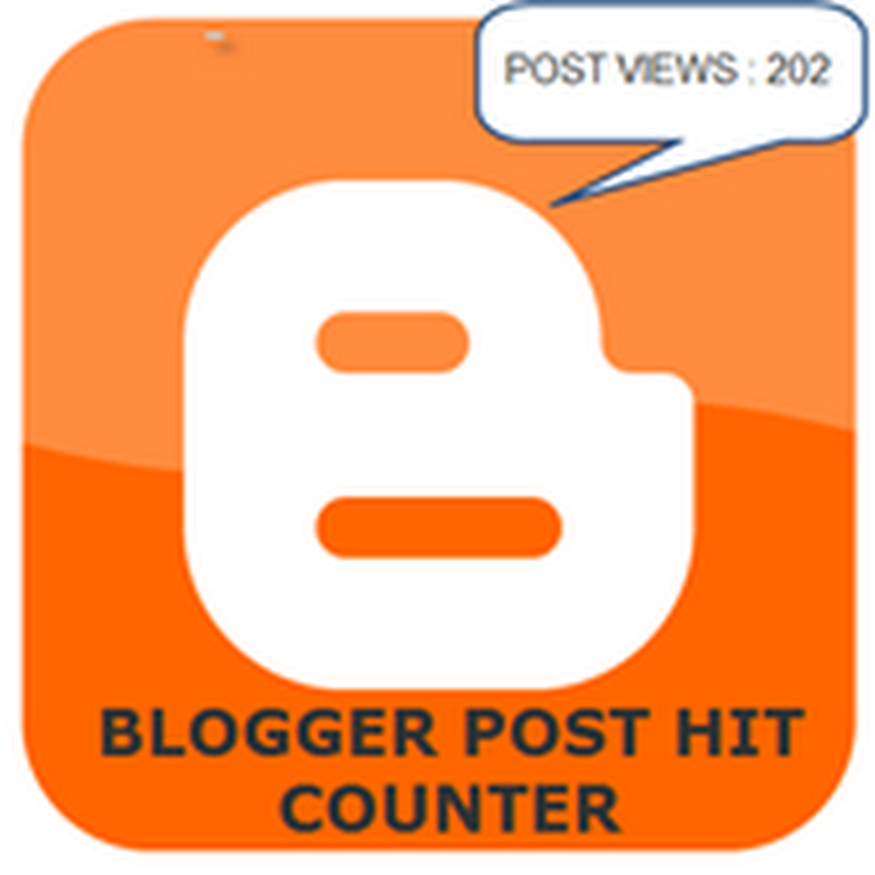 Blogger/BlogSpot Post Views Hit Counter shows Page views/visits of each post.