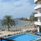 Blick aus dem Hotelzimmer auf Ibiza