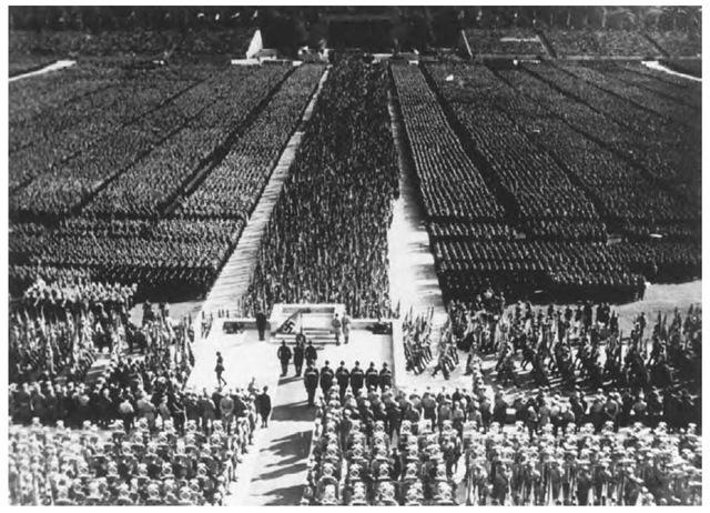 Nazi Party rally, Nuremberg, September 1934.