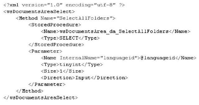 Example of xml description implementation