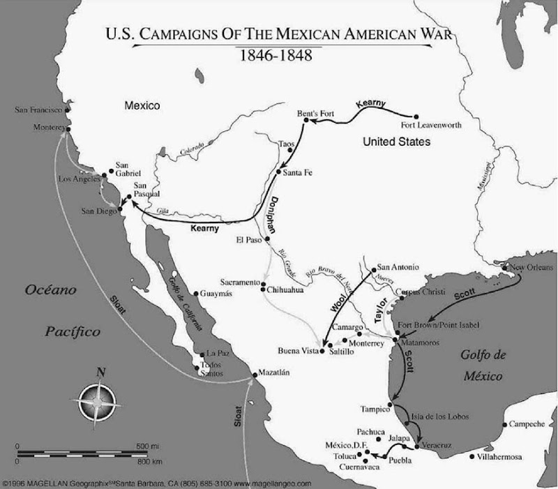 United states interventions in postindependence latin america us campaigns of the mexican american war texass territorial claims and mexicos reluctance to gumiabroncs Gallery
