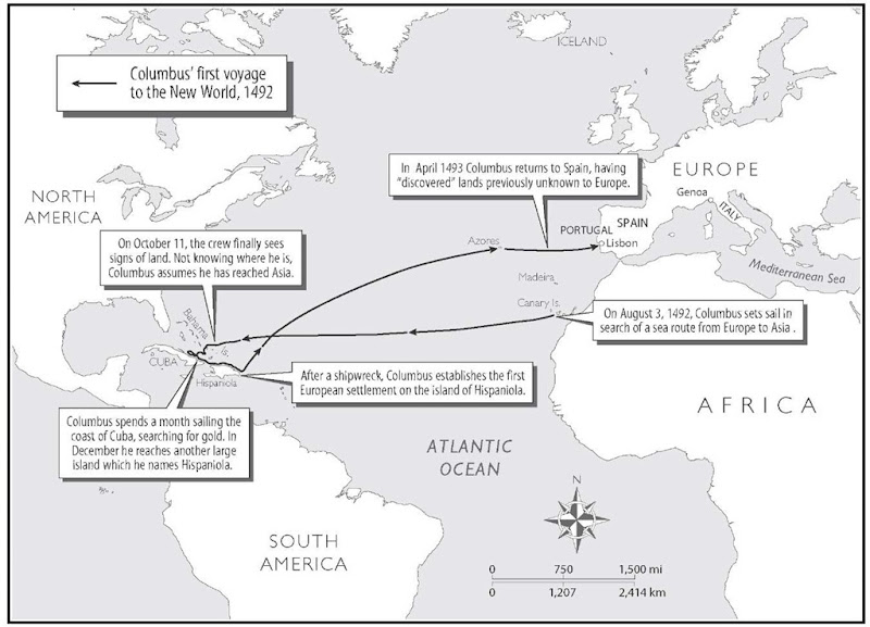 The Voyages of Columbus. Christopher Columbus's four voyages to the Americas during the 1490s and early 1500s set off a new era of European competition, exploration, and expansion. 