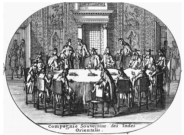 The Governor-General Meets the VOC Council in Batavia. This early eighteenth-century engraving depicts a meeting in Batavia (now Jakarta) between the governor-general of the Dutch East India Company and members of his council.