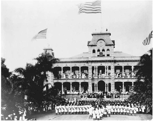 hawaii annexation Overthrow of the kingdom of hawaii part of the hawaiian rebellions (1887–95): the uss boston's landing force on duty at the arlington hotel, honolulu, at the time of the overthrow of the hawaiian monarchy, january 1893.