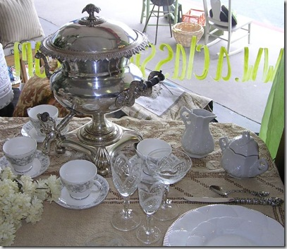 Samovar and tea cups