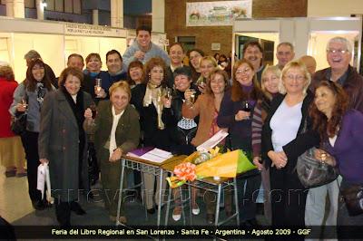 Comisión Organizadora, Expositores, Escritores, en el brindis final