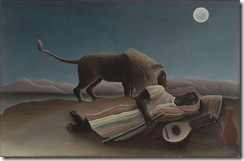 the sleeping gypsy by Rousseau