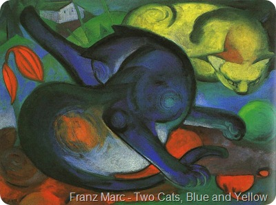 Franz_Marc-Two_Cats,Blue_and_Yellow