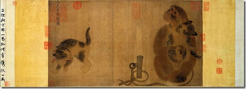japanese bobtail cat in old painting