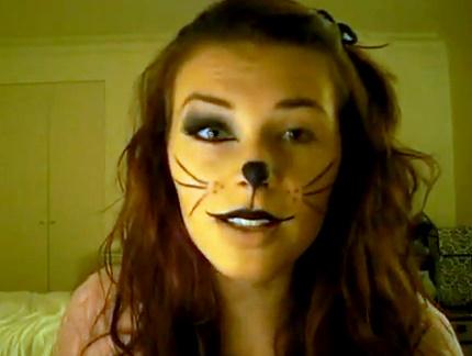 halloween cat makeup but