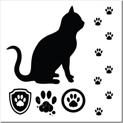 cat paw print clipart