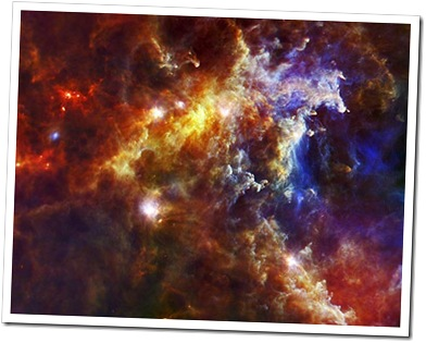 Nebulosa Roseta fotografada em infravermelho pelo Herschel (Foto: NASA)