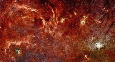 Nova imagem em infravermelho do centro da Via Láctea obtida pelo Hubble (Foto: NASA, ESA, Universidade de Massachusetts e Caltech/Divulgação)