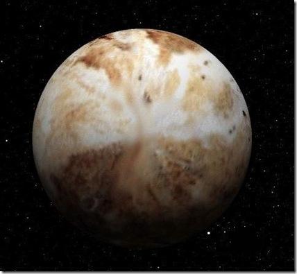 Concepção artística de Plutão (Foto: Eduardo Oliveira e Solar System Simulator/JPL/NASA / reprodução)