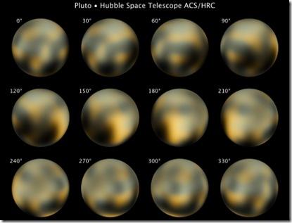 Fotos mais recentes de Plutão, feitas pelo Telescópio Espacial Hubble (Foto: NASA/ESA/M. Buie, Southwest Research Institute)