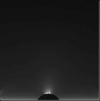 Encélado fotografado pela Cassini (Foto: Cassini/Ciclops / NASA, ESA)