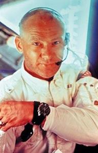 Aldrin a bordo do módulo Eagle em 21 de julho de 1969, após ficar mais de duas horas e meia na superfície lunar (Foto: NASA)