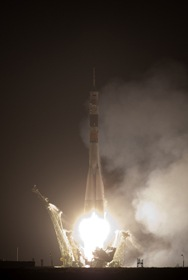 Soyuz sendo lançada (Foto: NASA)