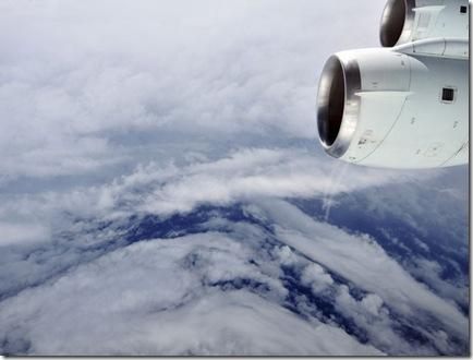 Vista de Earl a partir de DC-8 sobrevoando o furacão (Foto: Jane Peterson / NASA)