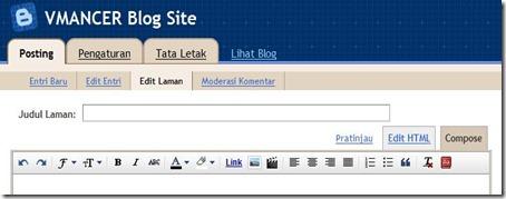 Blogger dalam konsep-VMANCER Blog Site - Buat Laman - 1