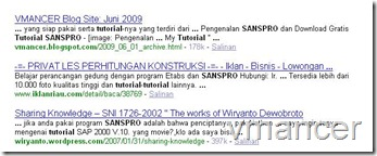Yahoo! Hasil Cari untuk tutorial sanspro