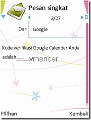 google calendar verifikasi