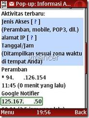 gmail - aktivitas akun
