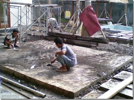 proses pengerjaan teraso - pembersihan lahan