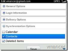 synchronize GMail contacts with BlackBerry address book (3)