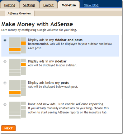 adsense in blogger