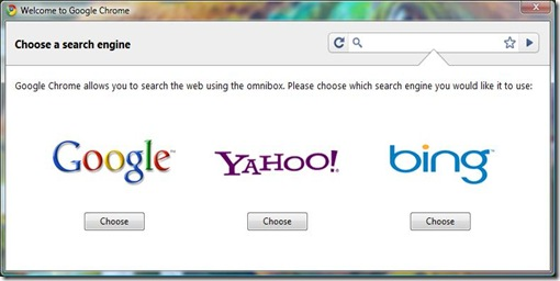 Choose a Search engine
