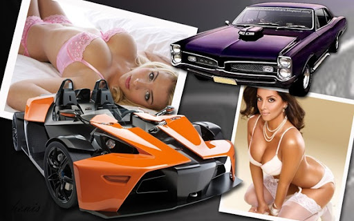 wallpaper women and cars. Concept Car And Pontiac GTO