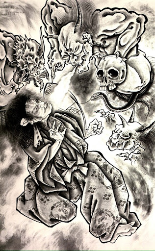 Evil Joker Tattoo Designs Phoenix Tattoo by tsuyachan with tribal concept
