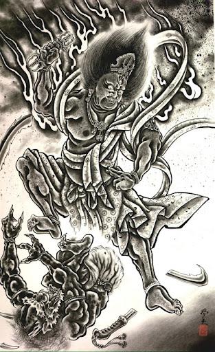 Japanese Demon Tattoo Designs