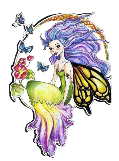 Colorfull Angel Wings Tattoos Art Gallery