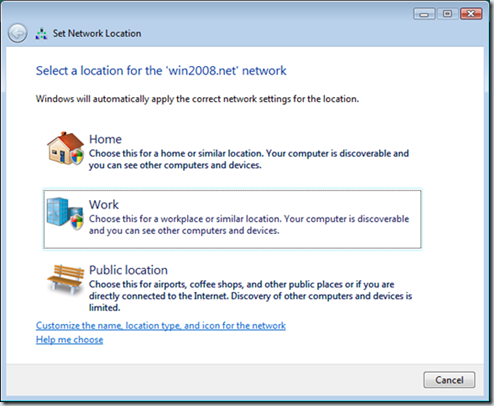Choosing-a-network-location