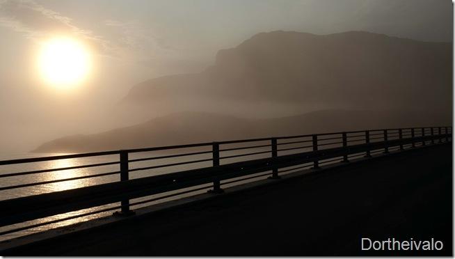 Stemningsbillede fra broen til aften