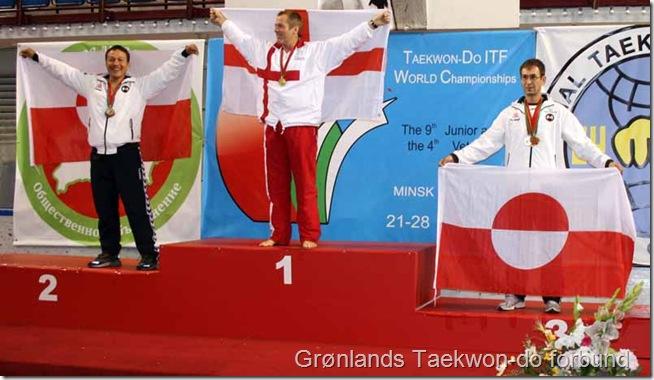 Et af VM's højdepunkter med hele to grønlandske medaljetagere på sejersskamlen i