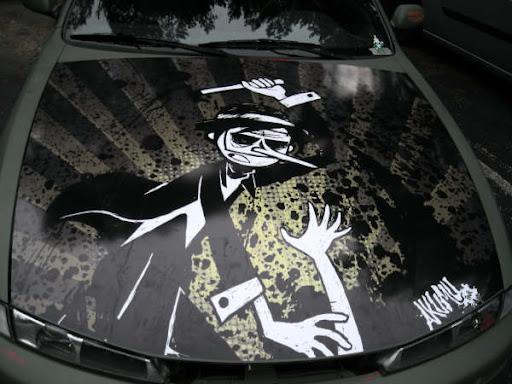 horror car, death graphics car, hurse